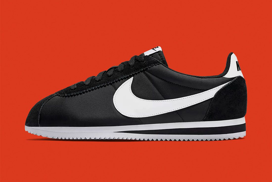 Nike Cortez Black White Left