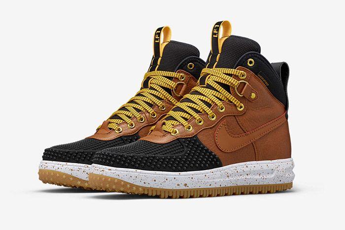 Nike Lunar Force 1 Duckboot Black Brown 1