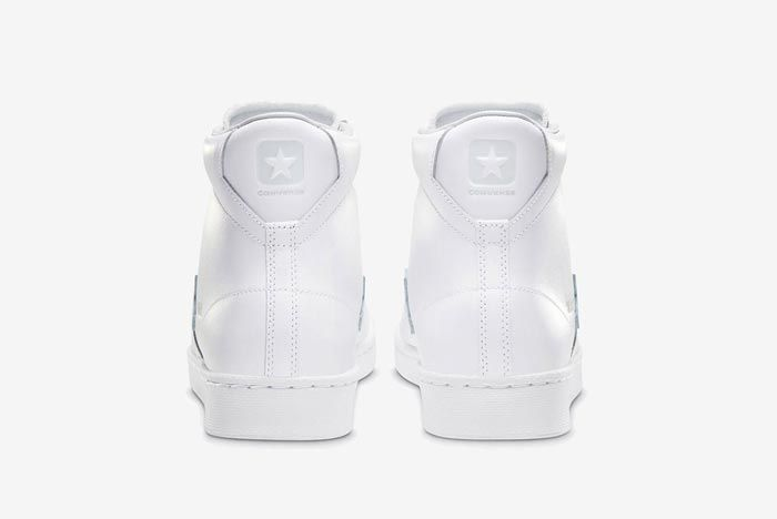 Converse Pro Leather Hi White Heels