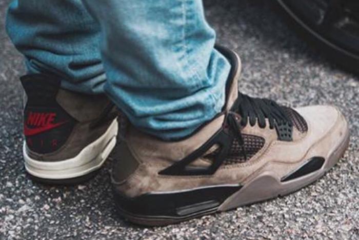 Travis Scott Air Jordan 4 Olive Heels Sneaker Freaker