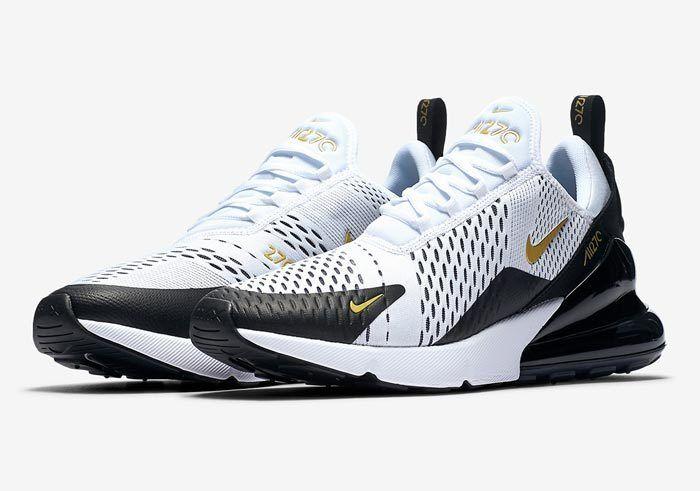 Nike Air Max 270 White Black Gold Av7892 100 700