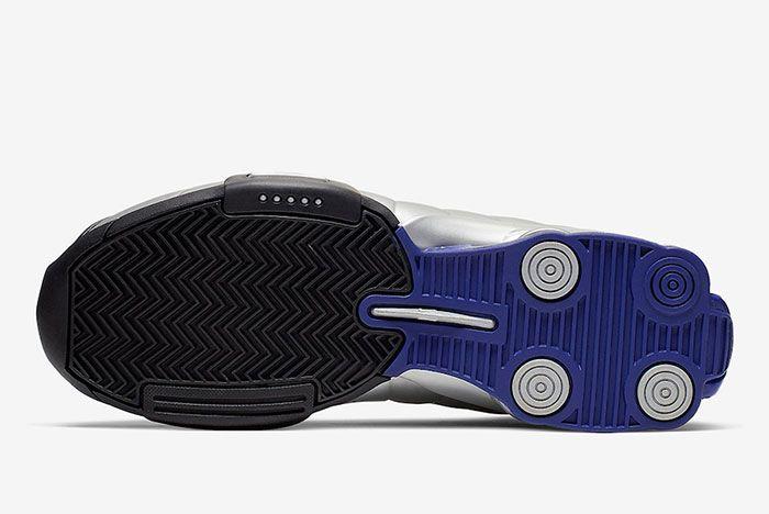 Nike Shox Bb4 Black Metallic Silver Purple At7843 001 Sole