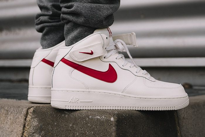 Nike Air Force 1 Mid 07 Sail Red 3