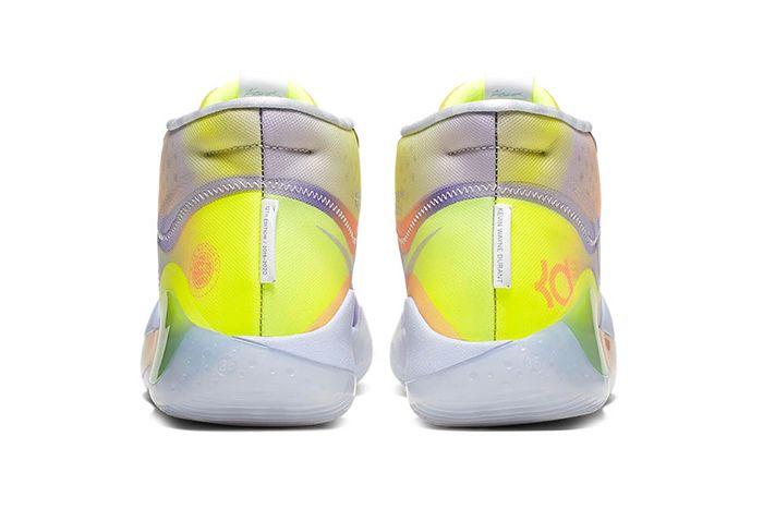 Nike Kd 12 Eybl Yellow Purple Orange Release Date Heel