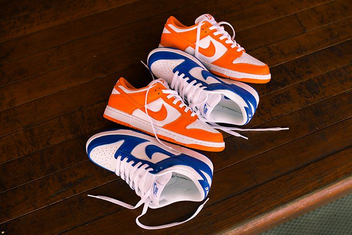Nike Dunk Low Kentucky Syracuse Up Close Hero Shot Laced Sneaker Freaker2