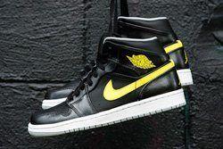 Air Jordan 1 Mid Vibrant Yellow 1