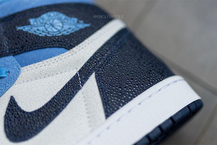 Air Jordan 1 High Og Unc Heel Closeup