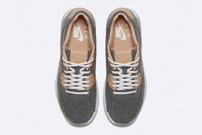 Nike Air Max 90 Ultra Premium Wool Vachetta Tan Leather 4