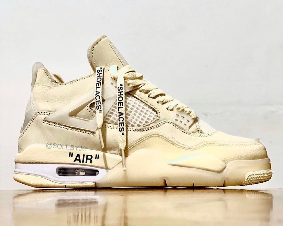 Off-White x Air Jordan 4 Sail Right
