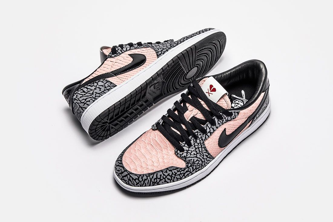Shoe Surgeon Aj1 Low Sb Heart Breaker Top Side