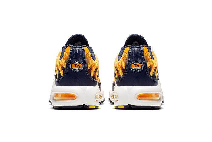 Nike Air Max Plus Navy And Orange Heel Shot 3