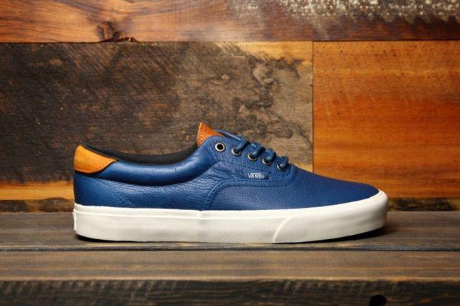 Vans Leather Era 59 Ca Blue Profile 1