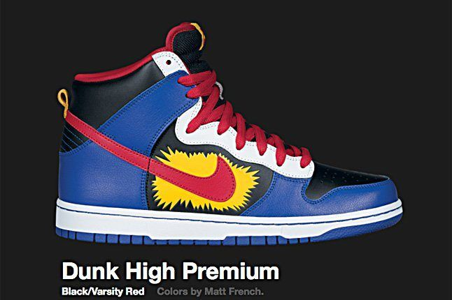 Nike Varsity Red Dunk Hi Premium 2010 1