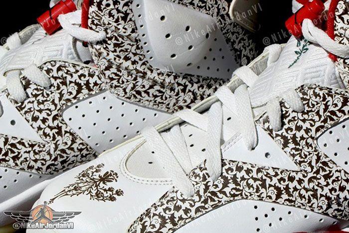Air Jordan 6 Donda West Lace Close Up