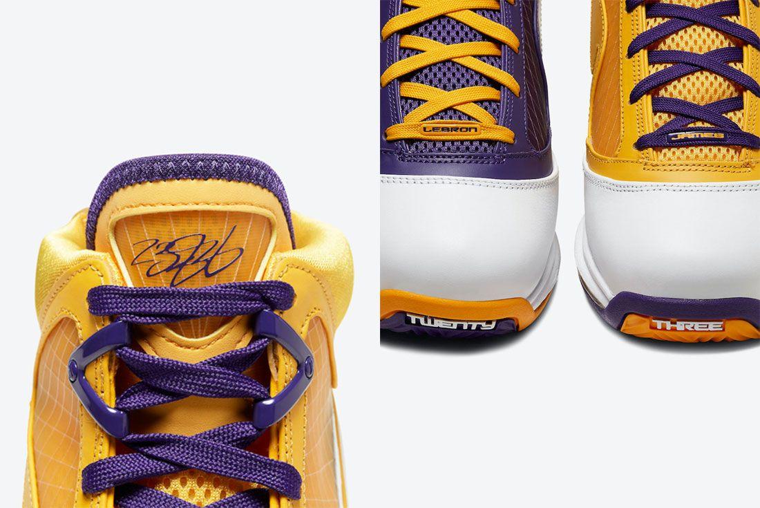 Nike LeBron 7 Lakers Details