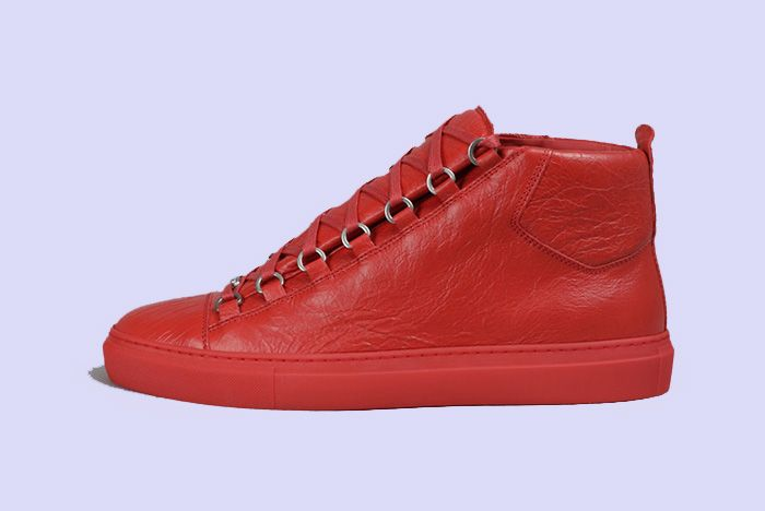 Balenciaga Arena Creased Red Release 1