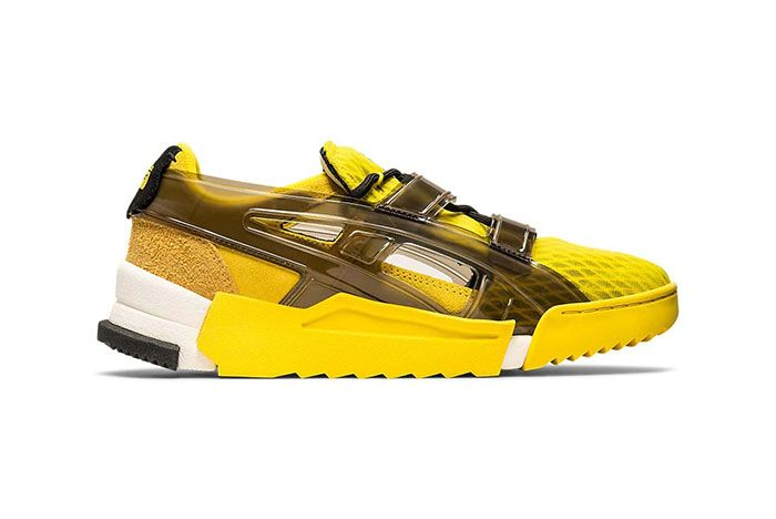 Onitsuka Tiger Big Logo Runner Sandal Yellow Lateral