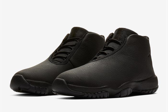 Jordan Future Triple Black Leather Pair