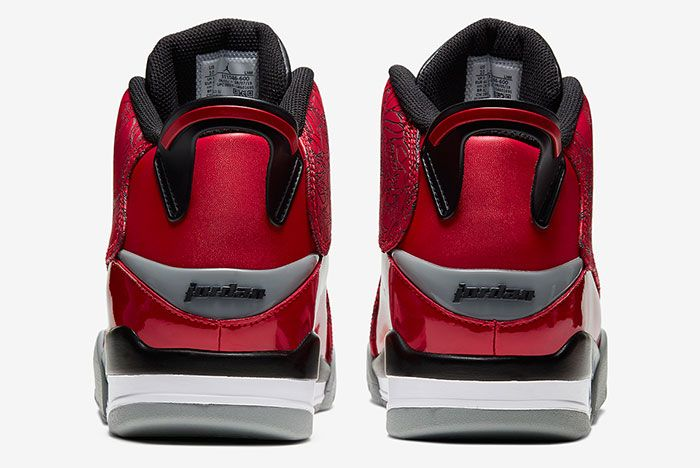 Jordan Dub Zero Varsity Red Black Grey 311046 600 Heel