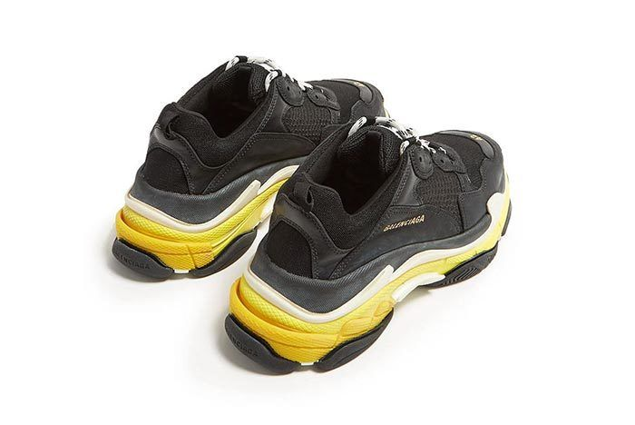 Triple S Black And Yellow 2