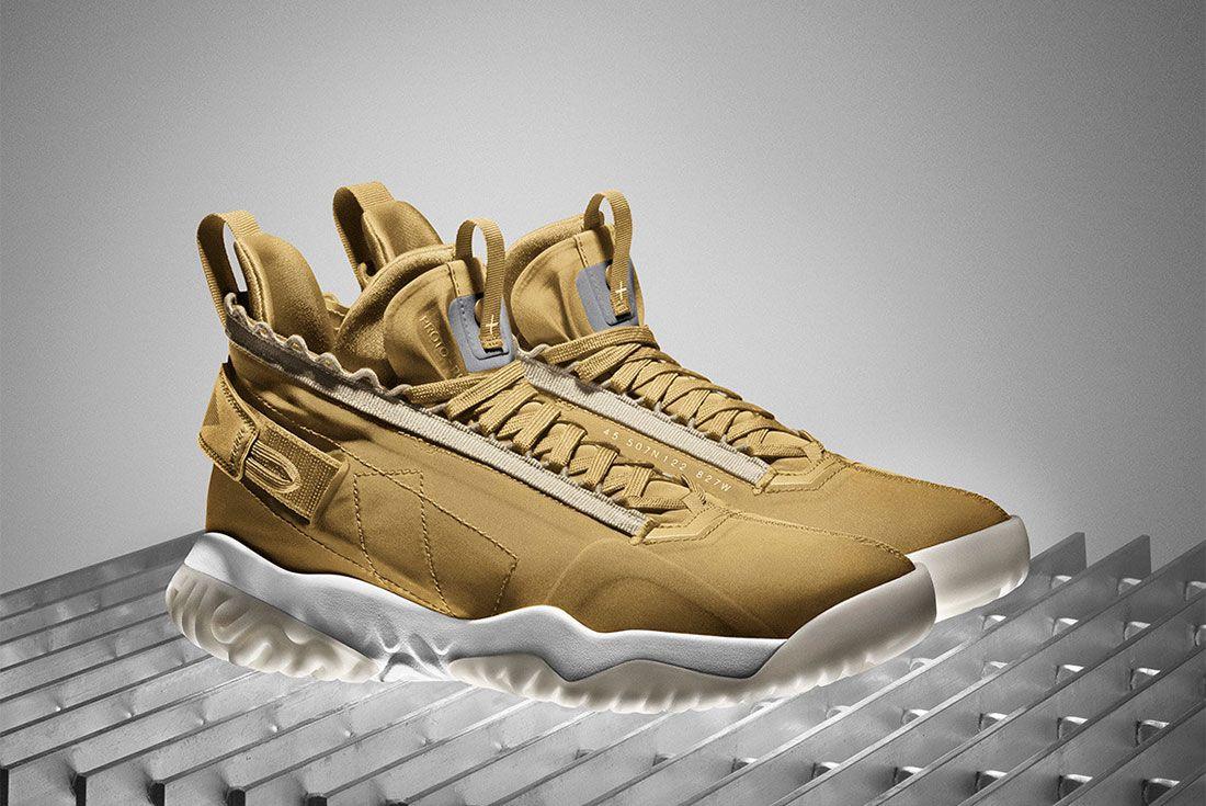 Jordan Proto React Release Date Gold Pair Side Shot