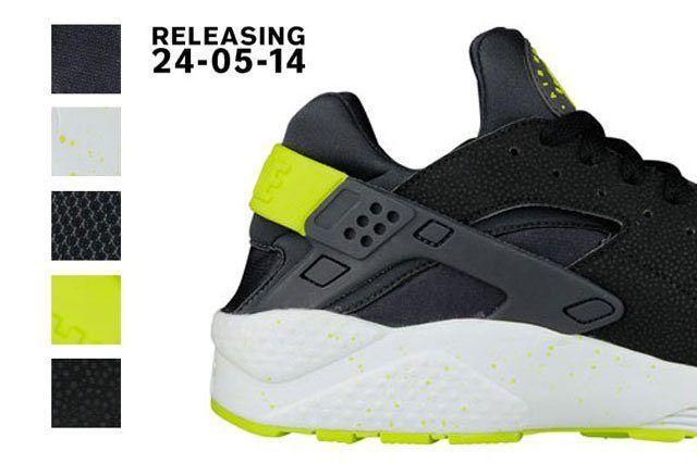 Nike Air Huarache Black Venom Green 2