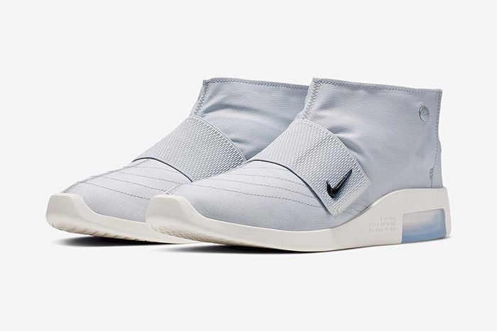 Nike Air Fear Of God Moccasin Official Pure Platinum Release Date Pair