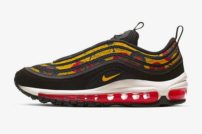 Nike Air Max 97 Floral Black Bv0129 001 Release Date Lateral