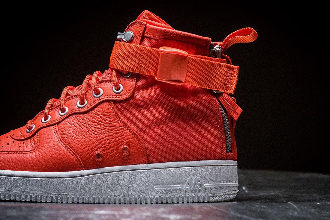 Nike Sf Air Force 1 Orange 5