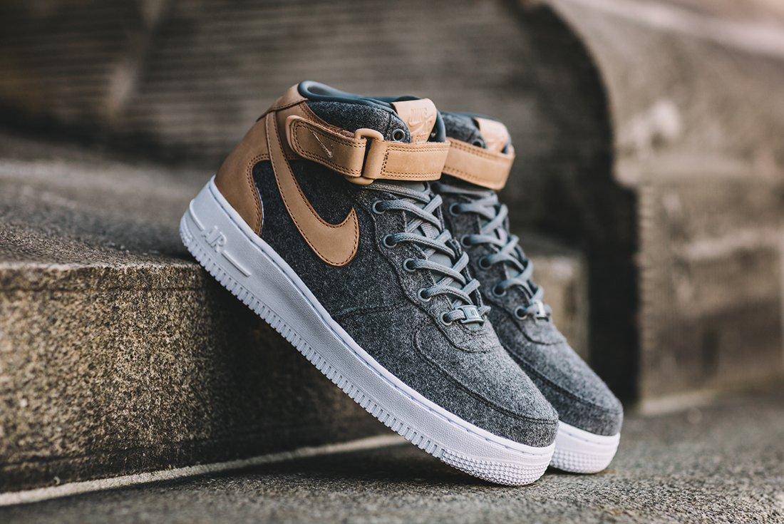 Nike Air Force 1 07 Mid Leather Premium Oatmeal 2