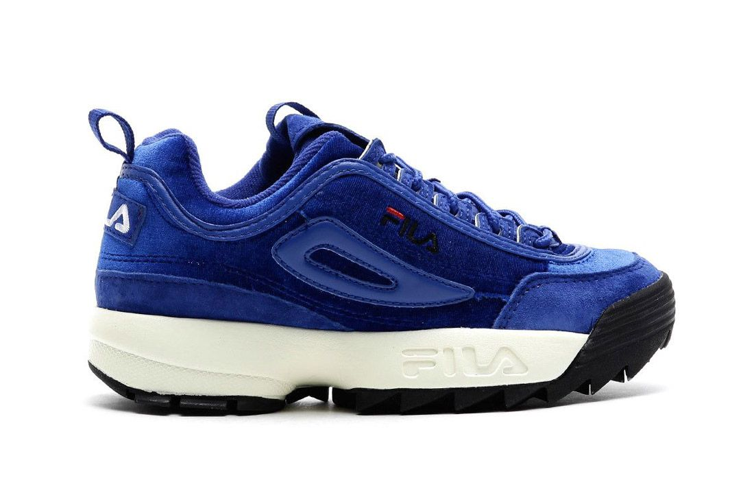 Fila Disruptor V Low Womens Royal Blue Sneaker Freaker 1