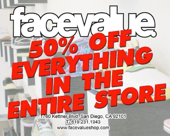 Facevalue Shop 50 Off Everything 1
