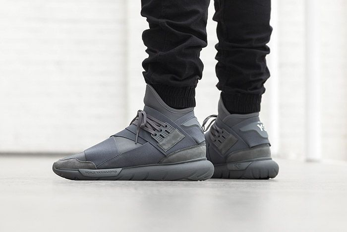 Adidas Y 3 Qasa High Vista Grey On Foot 2
