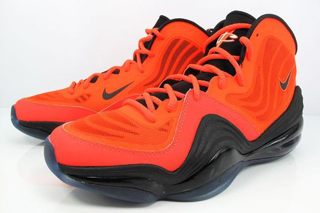 Nike Air Penny V Crimson Black Quater Front 1