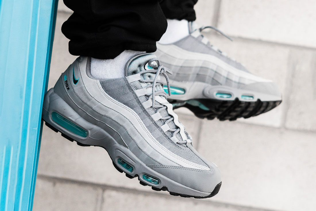 Jd Sports Exclusive Nike Air Max 95 Grey On Foot