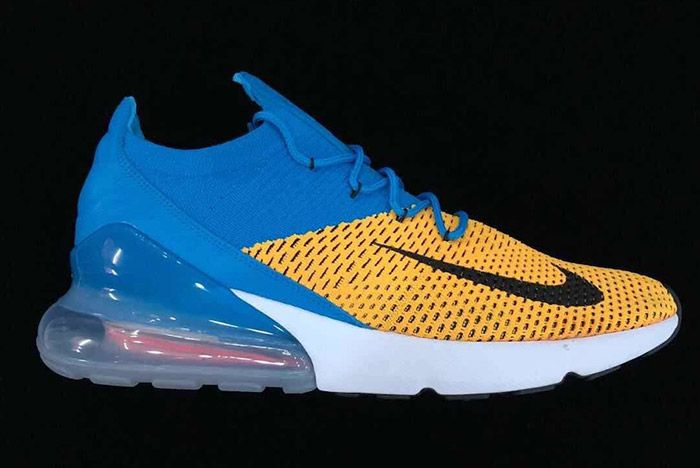 2 Nike Air Max 270 Flyknit Blue Yellow