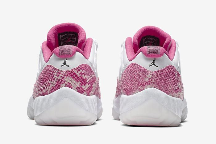 Air Jordan 11 Low Pink Snakeskin Heels