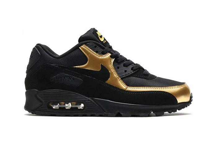 Nike Air Max 90 Black Metallic Gold 5