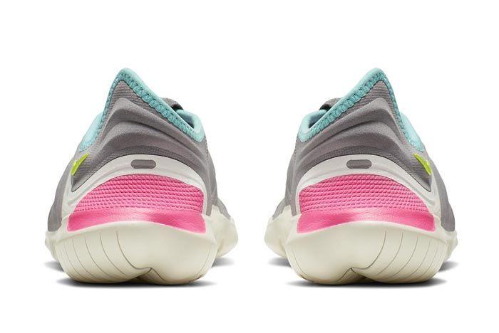 Nike Free Run Flyknit 3 Grey Heels