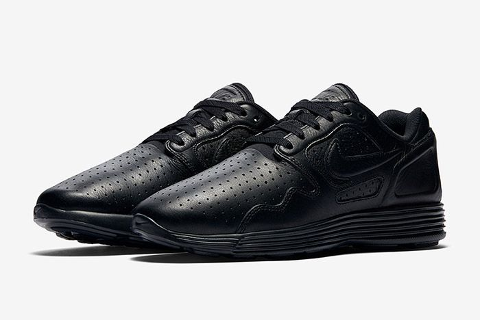 Nike Lunar Flow Triple Black Leather 7