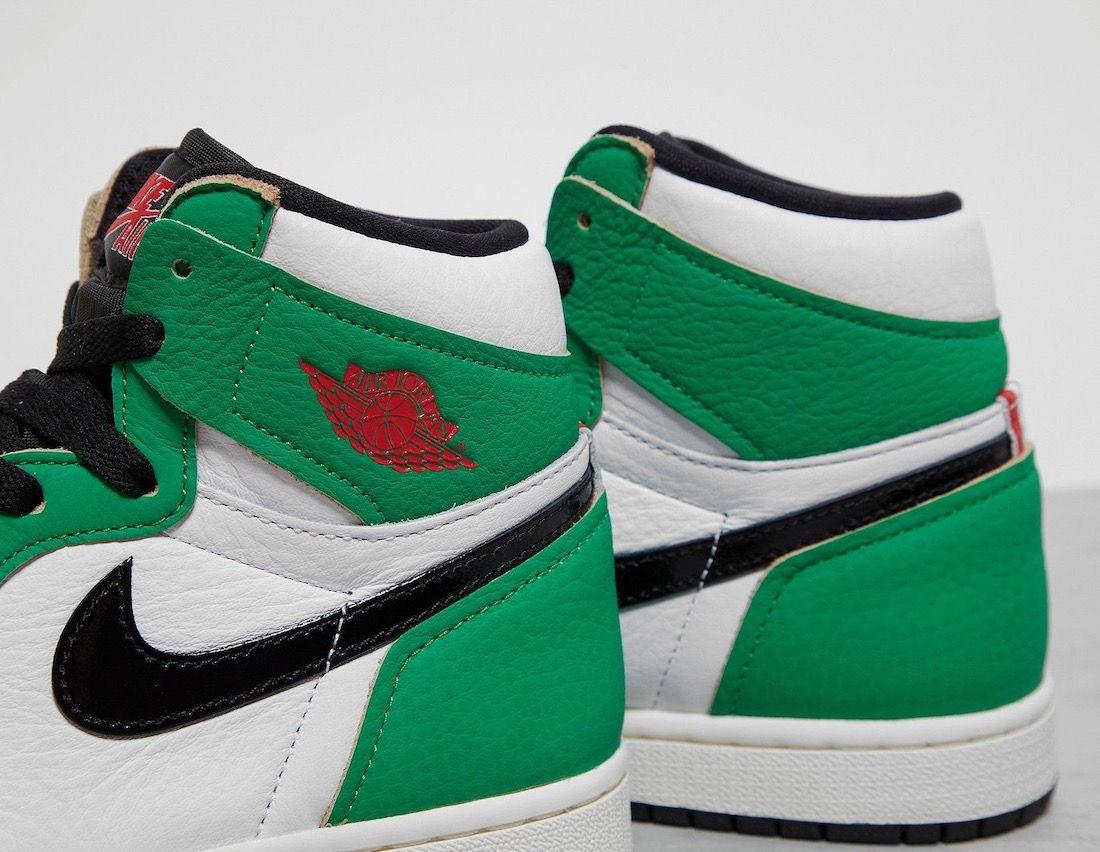 Air Jordan 1 Lucky Green Heel