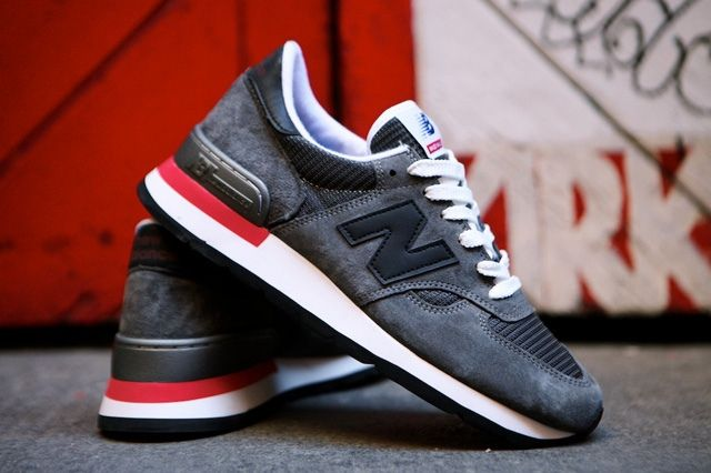New Balance 990 Made In Usa Charcoal Grey 1