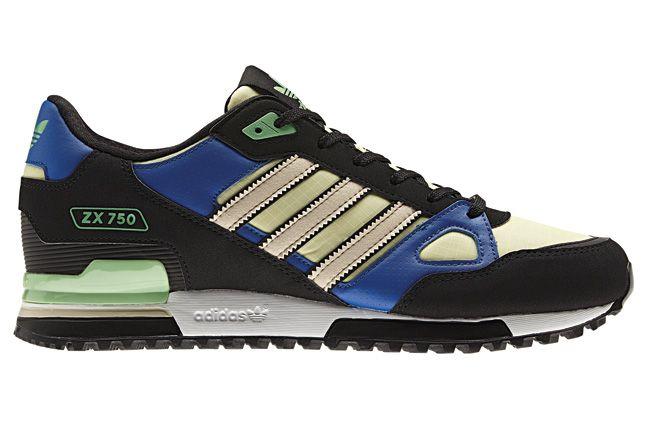 Adidas Blue Zx750 Side 1