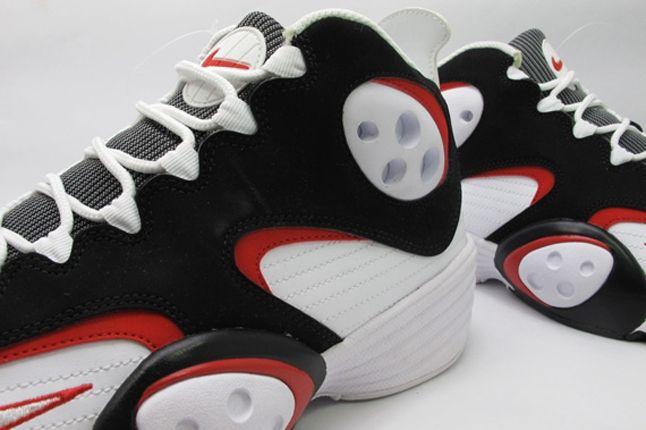 White Black Red Nike Air Flight One Heel Side 1