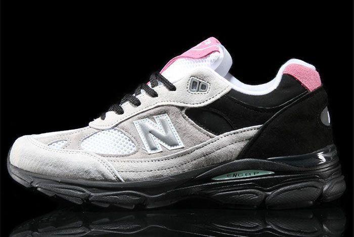 New Balance 991 9 Grey Black Pink Side Shot 3