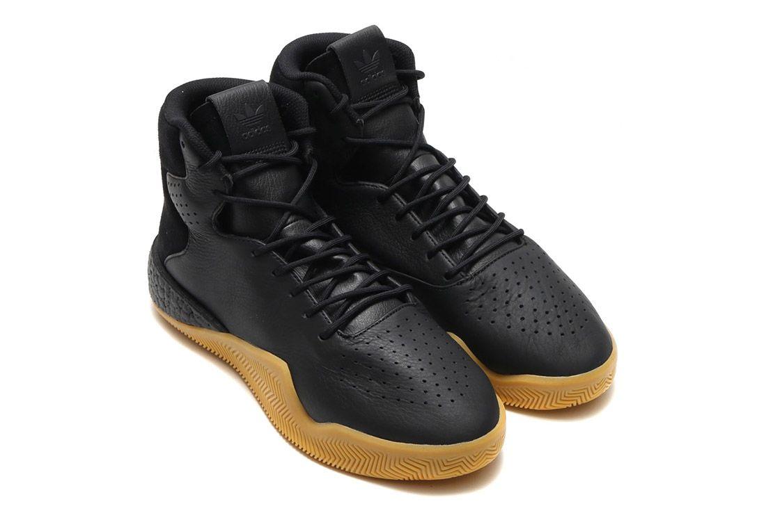 Adidas Tubular Instinct Black Leather 10