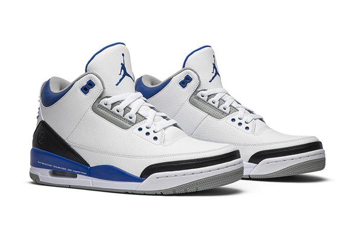 Fragment Design Air Jordan 3 Sample White Blue Black Hiroshi Fujiwara Release Date Pair