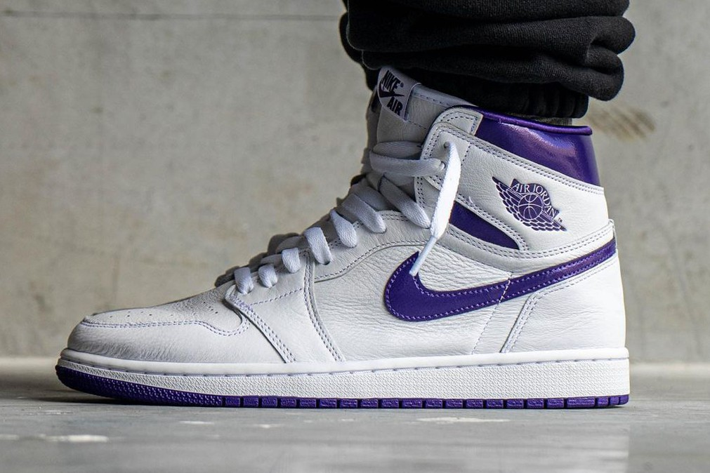 An On-Foot Look at the Air Jordan 1 High OG 'Court Purple ...