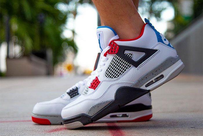Air Jordan 4 What The On Foot Left 4