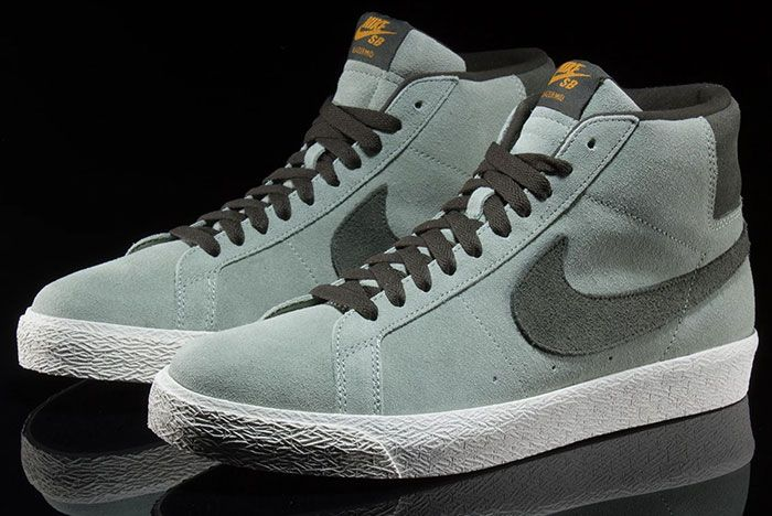 Nike Sb Blazer Mid Jade Horizon 864349 301 Front Angle